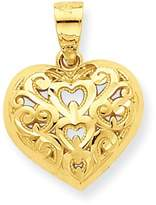 goldia 10k Gold Diamond-cut Heart Charm