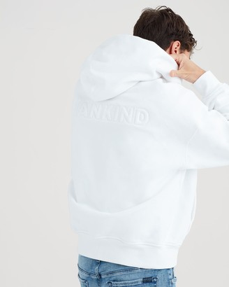 7 For All Mankind Mankind Paded Tonal Thread Hoodie in White