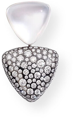 Vhernier 18k White Gold Doublet and Diamond Ear Clip, Single