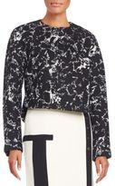 Balenciaga Printed Wool-Blend Cocoon Jacket