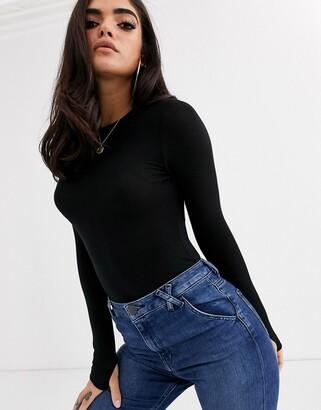Asos DESIGN sexy sheer rib bodysuit