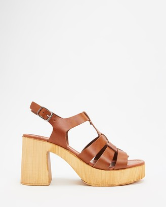 Mollini Women's Brown Heeled Sandals - Ceepers Heeled Sandals - Size 38 at The Iconic