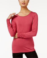 Alfani Long-Sleeve Ruched Top, Only at Macy's