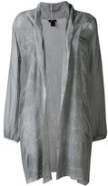 Avant Toi oversized lightweight jacket - women - Silk/Linen/Flax - M