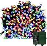 [Rechargeable Battery Included]Battery Operated Christmas String Lights with Timer,easyDecor 200 LED 72ft Multi-color 8Mode Waterproof Decorative Fairy light for Thanksgiving,Outdoor,Indoor,Party,Xmas