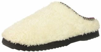 Dearfoams Women's Clog with Woven Trim Slipper Muslin XL Regular US