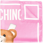 Moschino toy bear paper cut out scarf - women - Silk - One Size