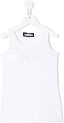 Jeremy Scott Junior logo print tank top