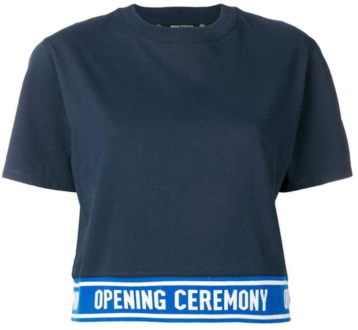 Opening Ceremony cropped logo band T-shirt