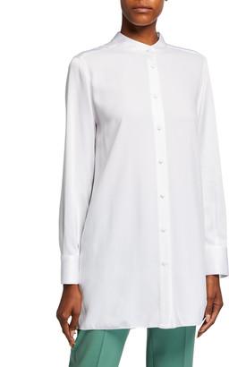 Piazza Sempione Mandarin-Neck Tunic Shirt