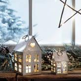 Lights4fun Zinc Tea Light House Duo