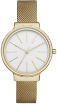 Skagen Women's Ancher Gold-Tone Stainless Steel Mesh Bracelet Watch 30mm SKW2477