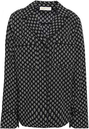 MICHAEL Michael Kors Studded Printed Crepon Shirt