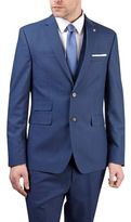 Burton Burton Blue Textured Tailored Fit Suit Jacket