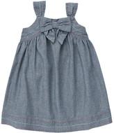 Gymboree Bow Pickstitched Chambray Dress