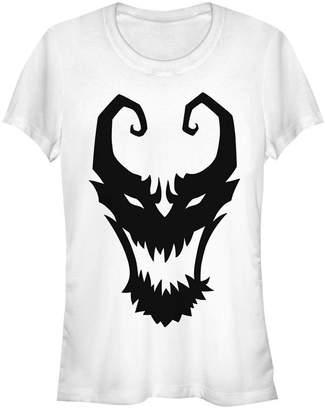 Fifth Sun Marvel Women Venom Symbol Logo Comic Short Sleeve Tee Shirt