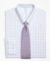 Brooks Brothers Non-Iron Madison Fit Alternating Twin Tattersall Dress Shirt