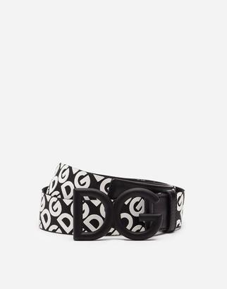 Dolce & Gabbana Belt In Nylon Webbing With Rubberized