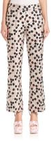 Giamba Flared Cherry-Print Jacquard Pants