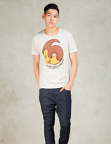 Nudie Jeans White Magic Man O-neck T-Shirt