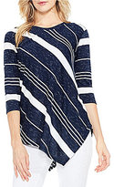 Vince Camuto Two By Asymmetrical Hem Stripe Top