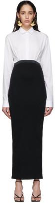 Haider Ackermann White and Black Elasticized Dress