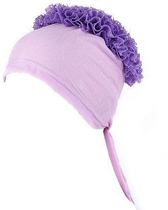 Kalorywee Womens Turban Hats KaloryWee Hijab Cap Under Scarf Tie Back Volumizer Underscarf Inner Lovely Stretchy Jersey Material Purple