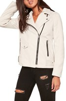 Missguided Faux Sude Moto Jacket