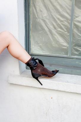 Magda Portamento Black Sandals - 37