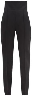 Alexandre Vauthier High-rise Grain-de-poudre Wool Tailored Trousers - Black