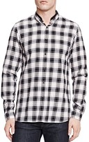 The Kooples Brushed Checks Slim Fit Button-Down Shirt