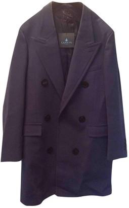 Lanvin Blue Wool Coat for Women