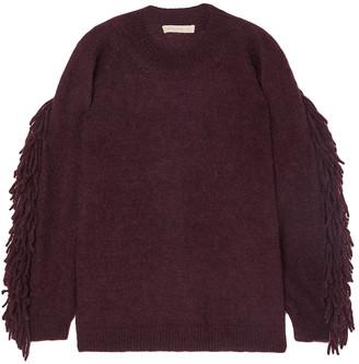 Vanessa Bruno Mina Fringe-trimmed Mohair-blend Sweater