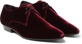 Saint Laurent - Velvet Derby Shoes