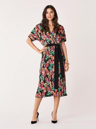 Diane von Furstenberg Autumn Pleated Poly-Blend Dress