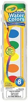 Crayola Watercolor Paints with Brush, Washable, 8 colors