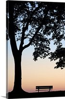 Canvas On Demand Darwin Wiggett Premium Thick-Wrap Canvas Wall Art Print entitled Tree And Bench Silhouette, Niagara-On-The-Lake, Ontario, Canada