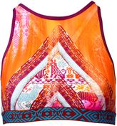 Matthew Williamson Aztec Print High Neck Sports Bra