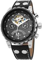 Burgmeister Men's BM136-922 Limoges Stainless Steel Watch With Black Leather Band