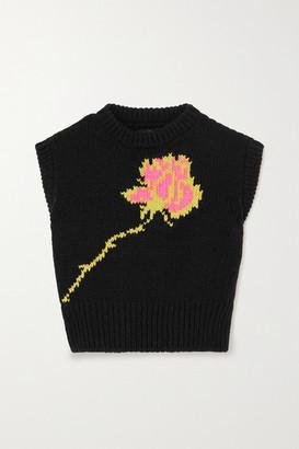 Meryll Rogge Intarsia Wool Sweater - Black