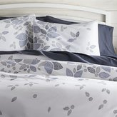 Crate & Barrel Henna Leaf Blue Duvet Covers