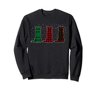 Buffalo David Bitton Plaid Border Collie Christmas Matching Family Pajama Sweatshirt