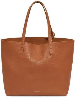 Mansur Gavriel Tumble Large Tote - Saddle