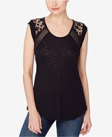 Catherine Malandrino Catherine Crocheted-Back Top
