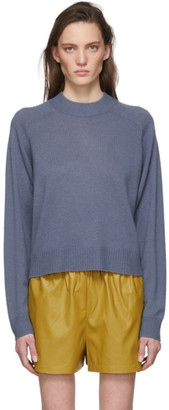Tibi Blue Spring Cocoon Sweater