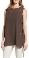 Eileen Fisher Women's Sheer Overlay Silk Top