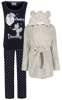 George Tatty Teddy Dressing Gown and Pyjamas Set