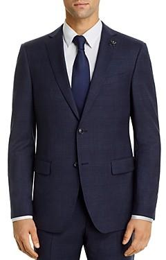 John Varvatos Bleecker Tonal-Plaid Slim Fit Suit Jacket