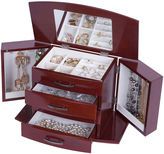 Asstd National Brand Mele & Co. Dark Burlwood Walnut-Finish Jewelry Box