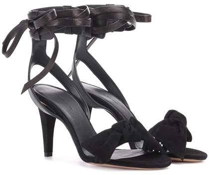 Isabel Marant Akynn leather and suede sandals